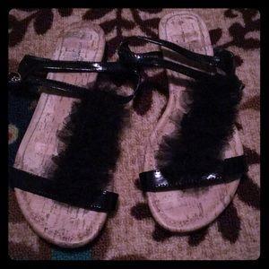 Jaclyn Smith riffle sandals
